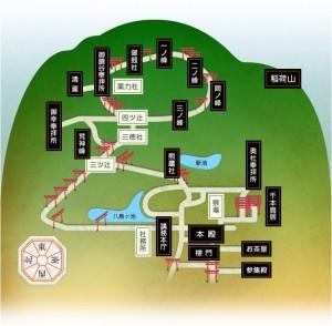 伏見稲荷「大社マップ」